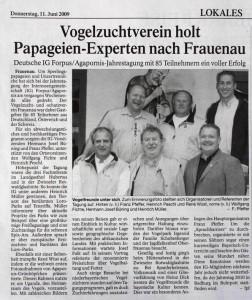 Passauer Neue Presse (Lokalteil Frauenau) 11.6.2009 1111 (1)